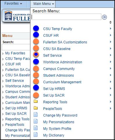 Current integrated menu