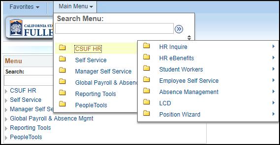 New HR menu