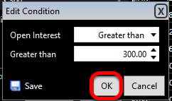 Set the desired Minimum and Maximum values and click OK.