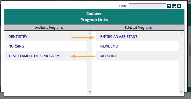 Program links