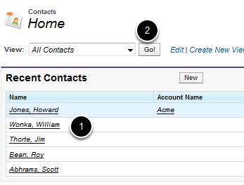 Choose a Contact