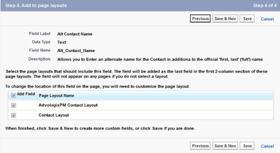 Contact: New Custom Field ~ Step 3. Establish field-level security