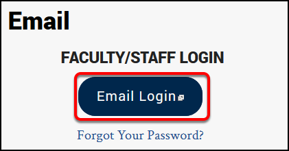 Login to Email page
