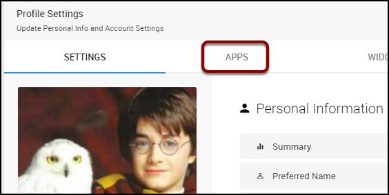 profile settings apps
