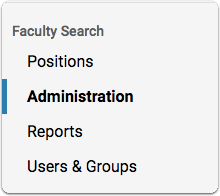 "Select ""View Positions from your ByCommittee Faculty Search Account Dashboard"