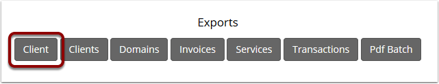 Client Export button