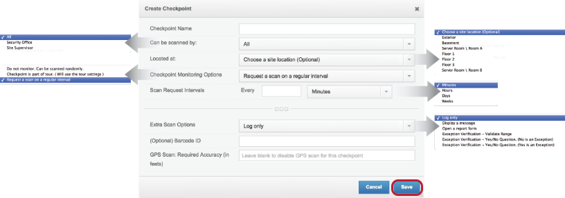 Configure the Checkpoint