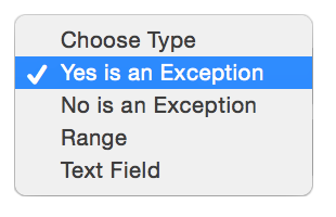 Types of Exception Questions
