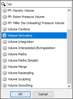 Create a volume smoothing process