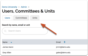 """Click the """"Units"""" tab to get started"""