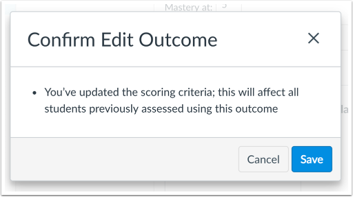View Scoring Edits Confirmation