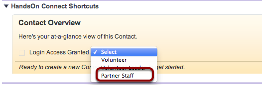 Now go to the contact record of each contact associated with the organization you wish to grant portal access to.