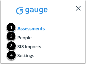 View Gauge Navigation Menu
