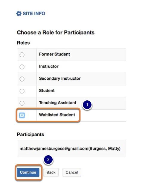 Adding individual waitlisted students