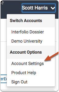 "Make sure you have associated AACOMAS ID numbers with your account from the ""Account Settings"" page"