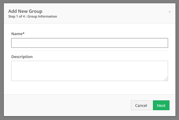Enter a Name for the user group.