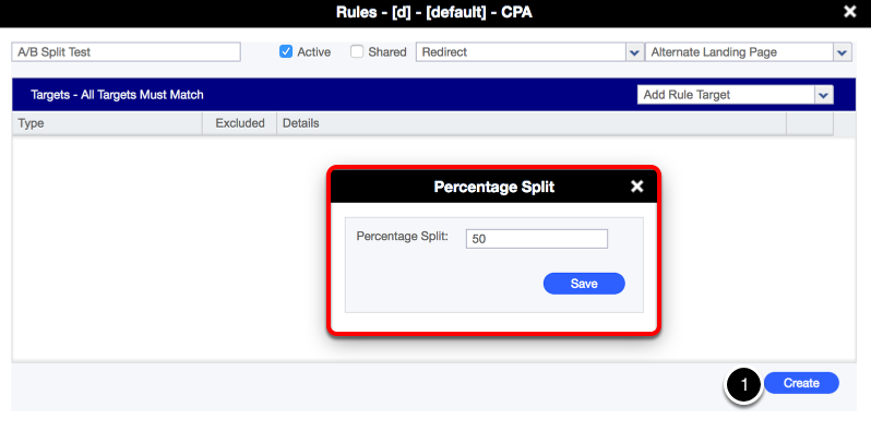 Step 4: Creating the Split Test Rule