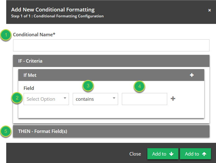 Setting the condition for your formatting.