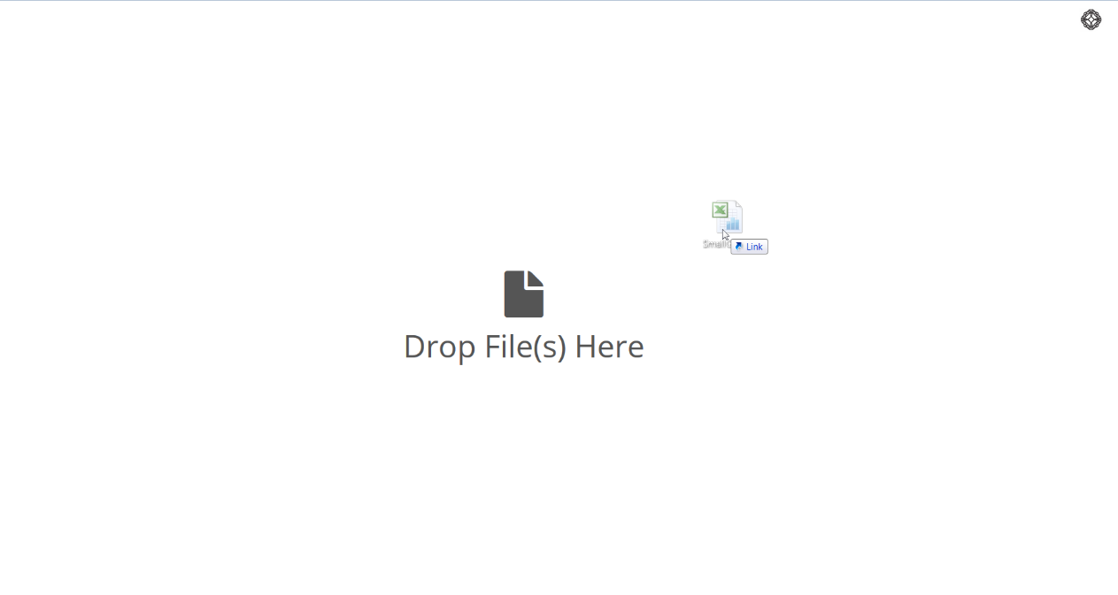 Drag the file over the UI.