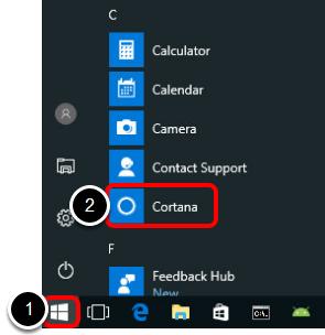 Open Cortana