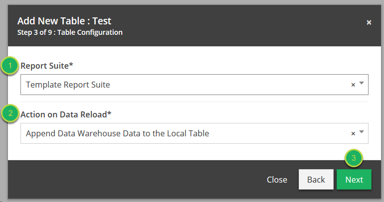 Create your table (Step 3).