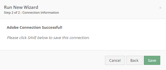 You've connected successfully.