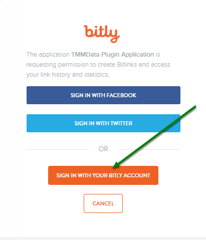 Sign into Bitly.