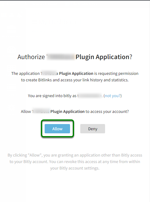 Authorize TMMData Plugin Application.