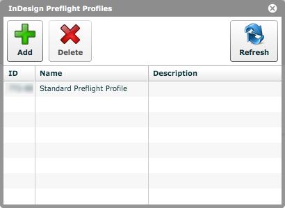 'InDesign Preflight Profiles'