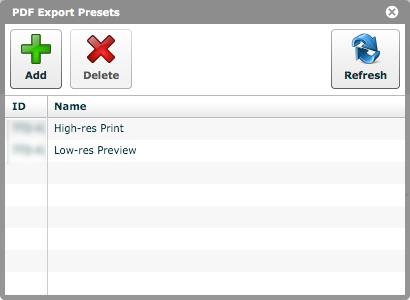 'PDF Presets'