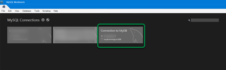 After restarting MySQL Workbench, your connection will be available.