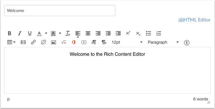 Open Rich Content Editor