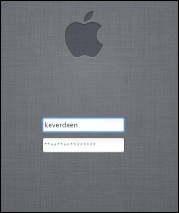 Mac login screen