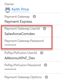 Enter your Payment Express UserID and password