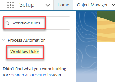 Select 'Workflow Rules'