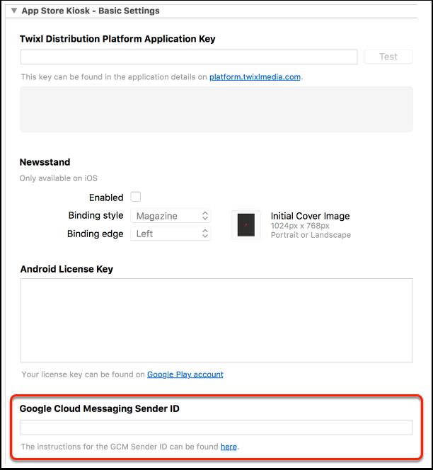 9. Enter GCM Sender ID in build setting