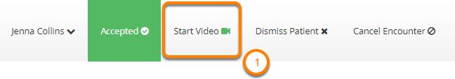 Start the Video Call