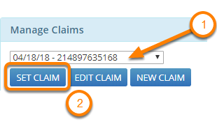 Set the Claim Number for an Encounter