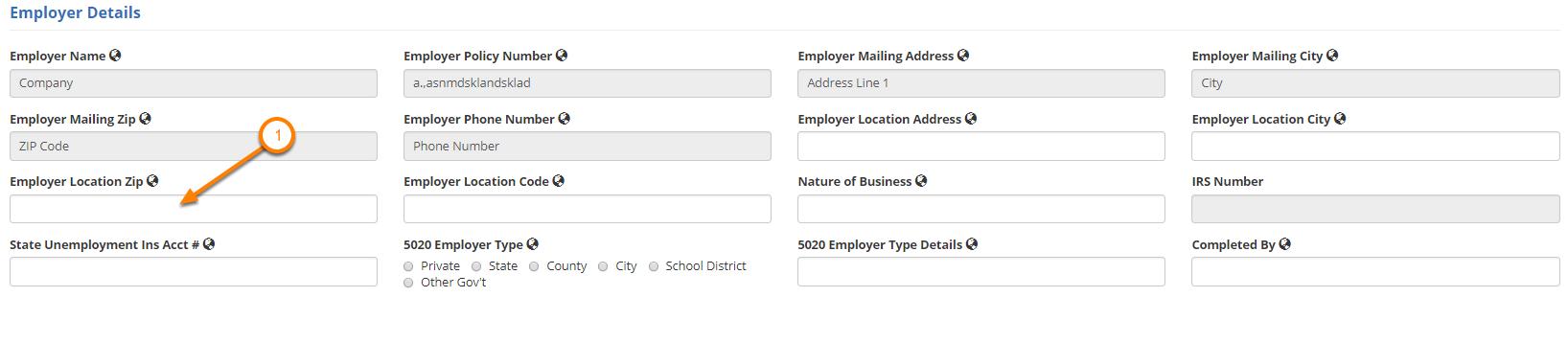 Enter Employer Details
