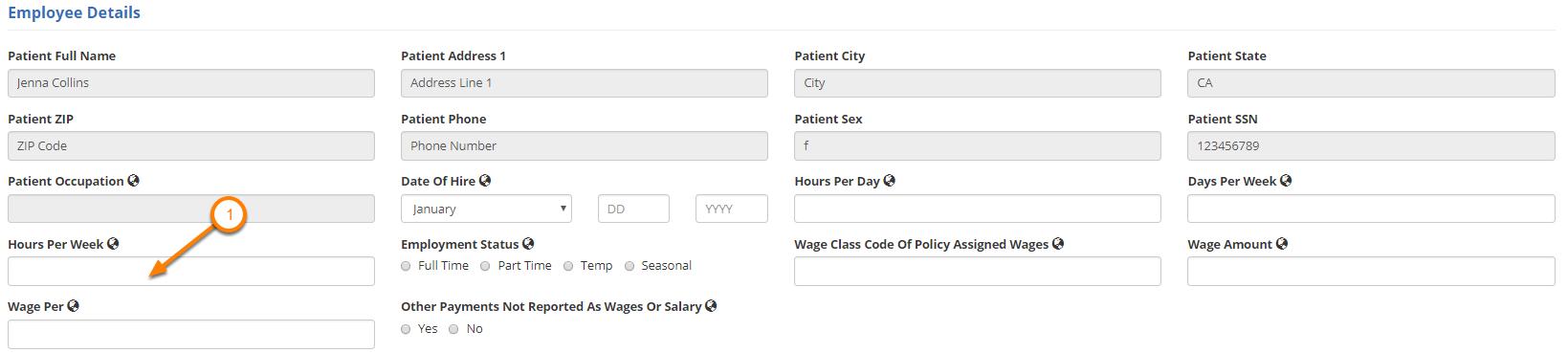 Enter Employee Details