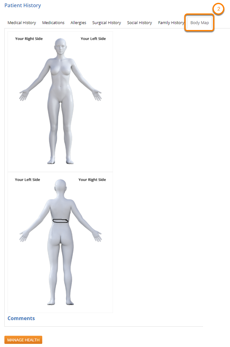 View Body Map