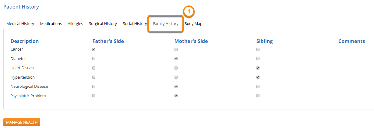 View Family History