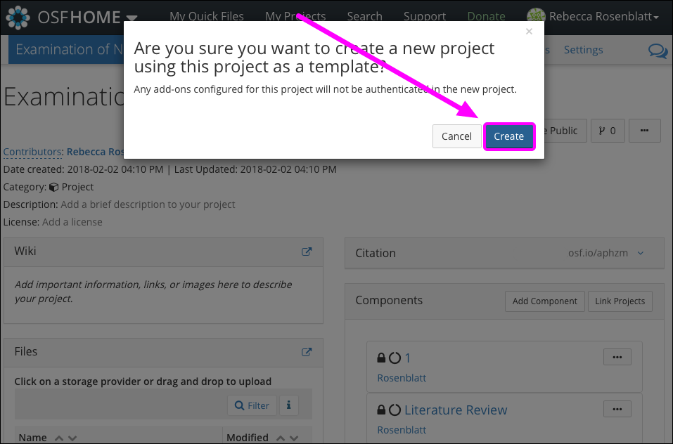 Create Templated Project