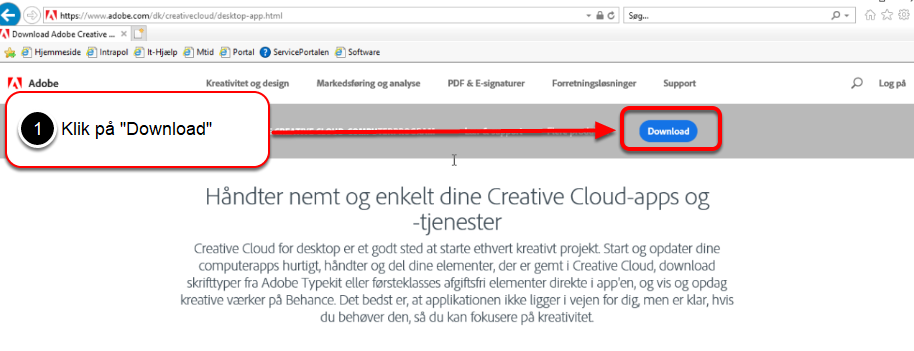 Log på med dit Adobe ID