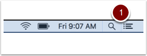 OSX Spotlight Search button