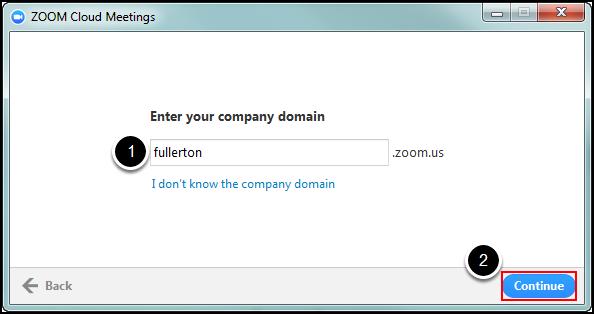Zoom desktop client sign-in screen