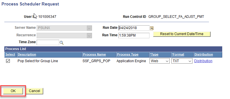Process Scheduler page
