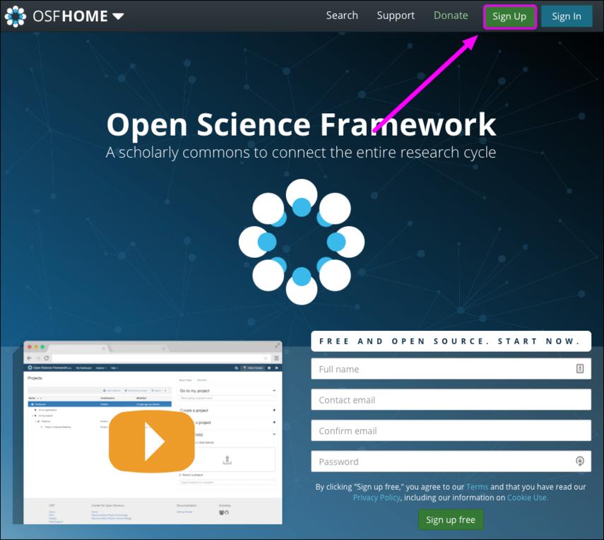 OSF Homepage