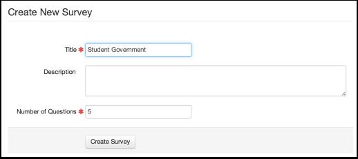 Create a New Survey