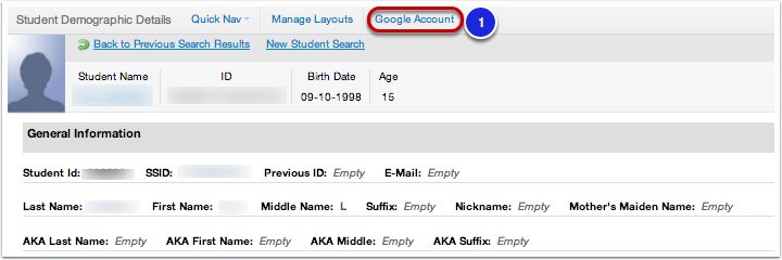Setting up a Student's Google Apps Account